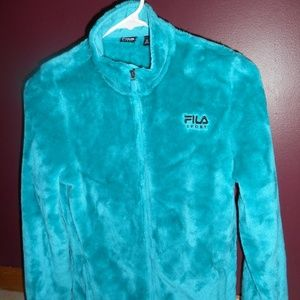 Fila Girls XL (18) Teal Full Zip Fleece GC